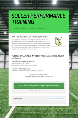 SOCCER PERFORMANCE TRAINING