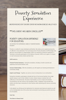 Poverty Simulation Experience