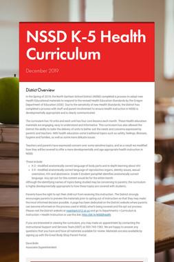 NSSD K-5 Health Curriculum