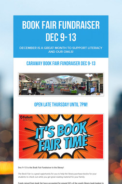 Book Fair FUNdraiser Dec 9-13
