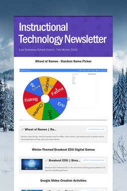 Instructional Technology Newsletter