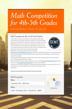 Math Competition for 4th-5th Grades