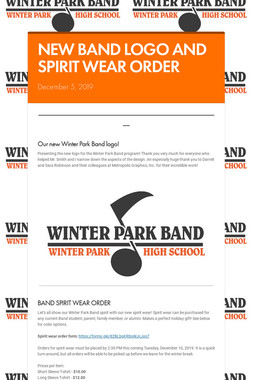 NEW BAND LOGO AND SPIRIT WEAR ORDER