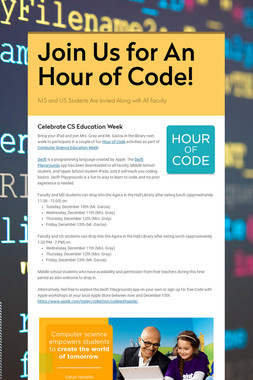 Join Us for An Hour of Code!