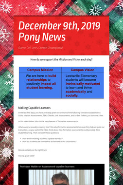 December 9th, 2019 Pony News