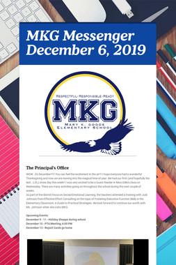 MKG Messenger December 6, 2019