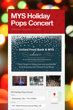 MYS Holiday Pops Concert