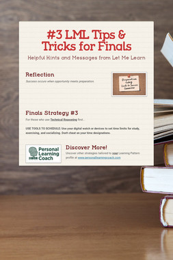 #3 LML Tips & Tricks for Finals