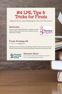 #4 LML Tips & Tricks for Finals
