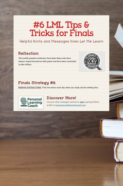 #6 LML Tips & Tricks for Finals