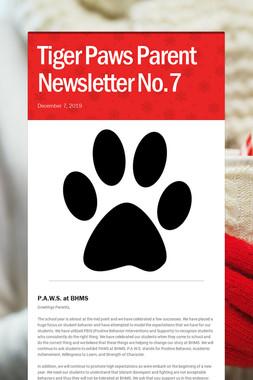 Tiger Paws Parent Newsletter No.7