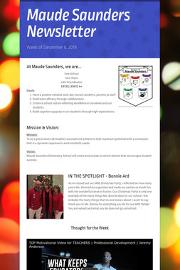 Maude Saunders Newsletter