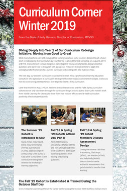 Curriculum Corner Winter 2019