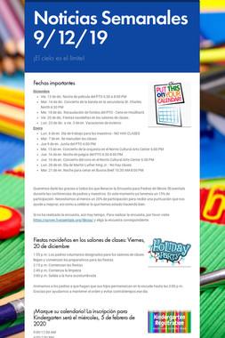 Noticias Semanales 9/12/19
