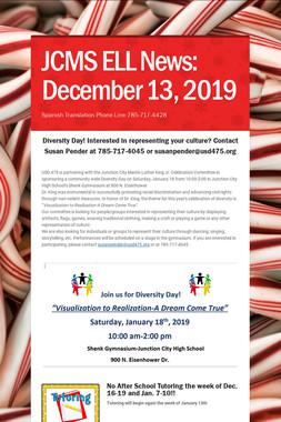 JCMS ELL News: December 13, 2019
