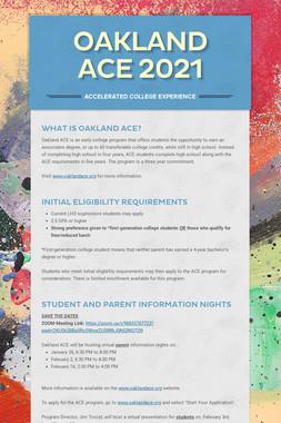 Oakland ACE 2020