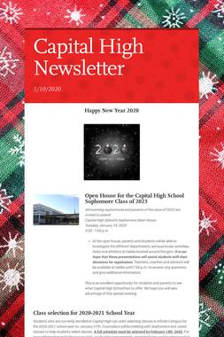 Capital High Newsletter