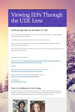 Viewing IEPs Through the UDL Lens