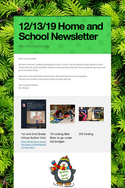 12/13/19 Home and School Newsletter