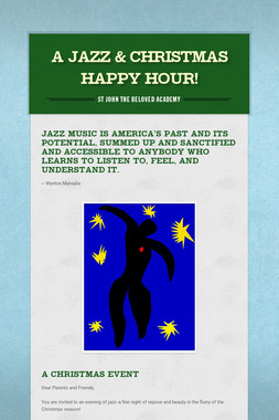 A Jazz & Christmas Happy Hour!