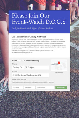 Please Join Our Event~Watch D.O.G.S