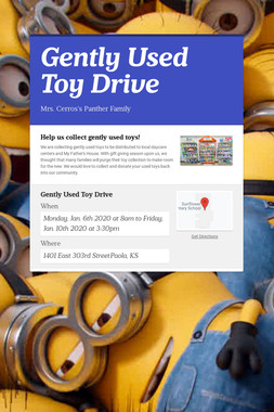 Gently Used Toy Drive