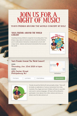JOIN US FOR A NIGHT OF MUSIC!
