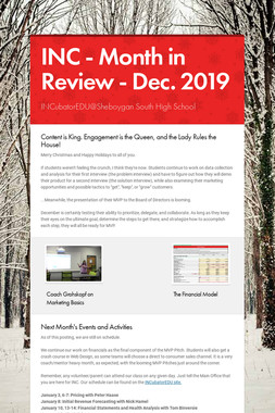 INC - Month in Review - Dec. 2019