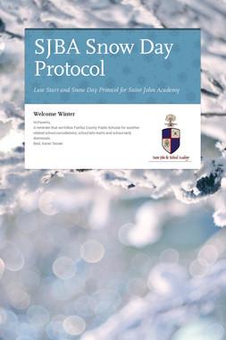 SJBA Snow Day Protocol