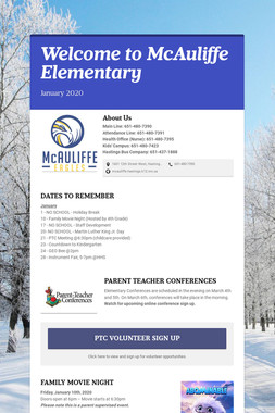 Welcome to McAuliffe Elementary