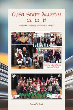 CHS9 Staff Bulletin 12-13-19