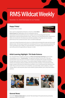 RMS Wildcat Weekly