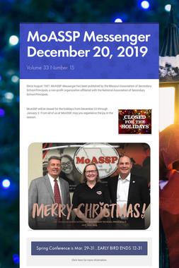MoASSP Messenger December 20, 2019
