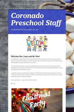 Coronado Preschool Staff