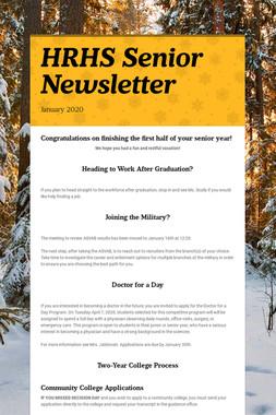 HRHS Senior Newsletter