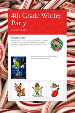4th Grade Winter Party