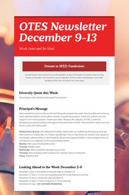OTES Newsletter December 9-13