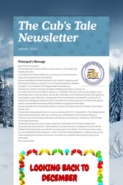 The Cub's Tale Newsletter
