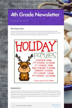 4th Grade Newsletter