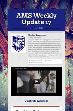 AMS Weekly Update 17