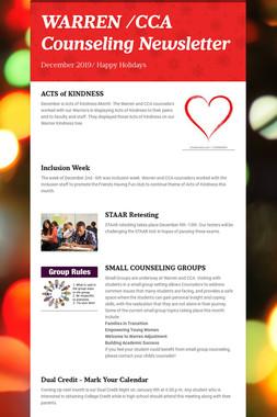 WARREN /CCA Counseling Newsletter