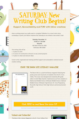 SATURDAY: New Writing Club Begins!