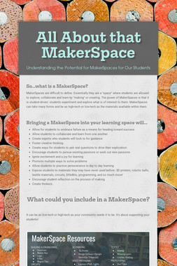 All About that MakerSpace