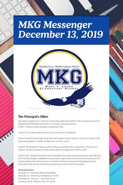 MKG Messenger December 13, 2019