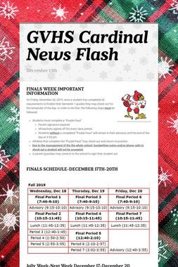 GVHS Cardinal News Flash