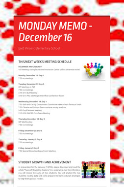 MONDAY MEMO - December 16