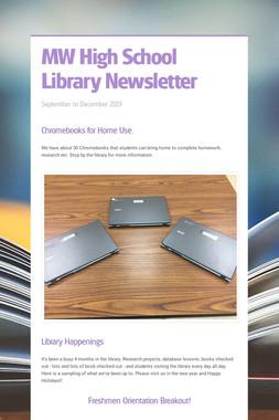 MW High School Library Newsletter