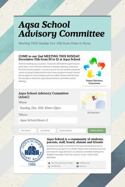 Aqsa School Advisory Committee