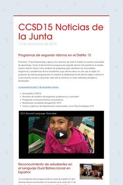 CCSD15 Noticias de la Junta