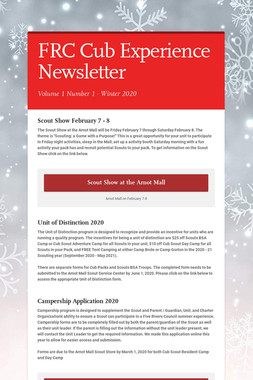 FRC Cub Experience Newsletter